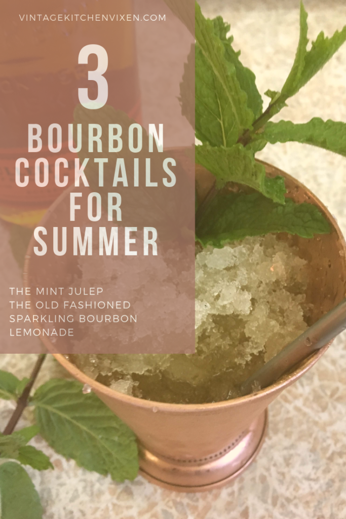 three bourbon cocktails for summer