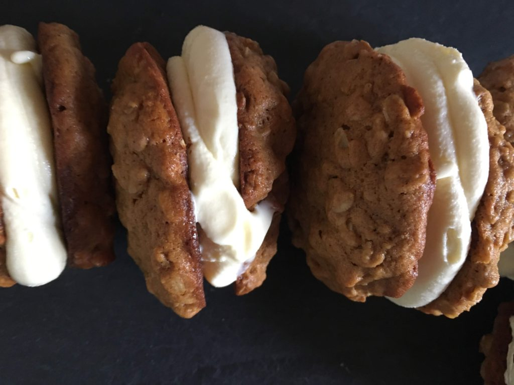 vanilla ice cream made with crème anglaise for ice cream sandwiches
