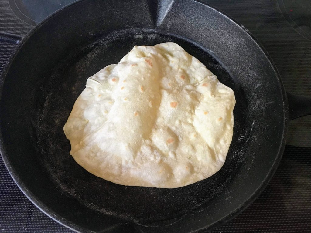 cast iron kefir tortillas