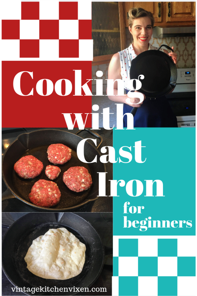cooking with cast iron for beginners pin