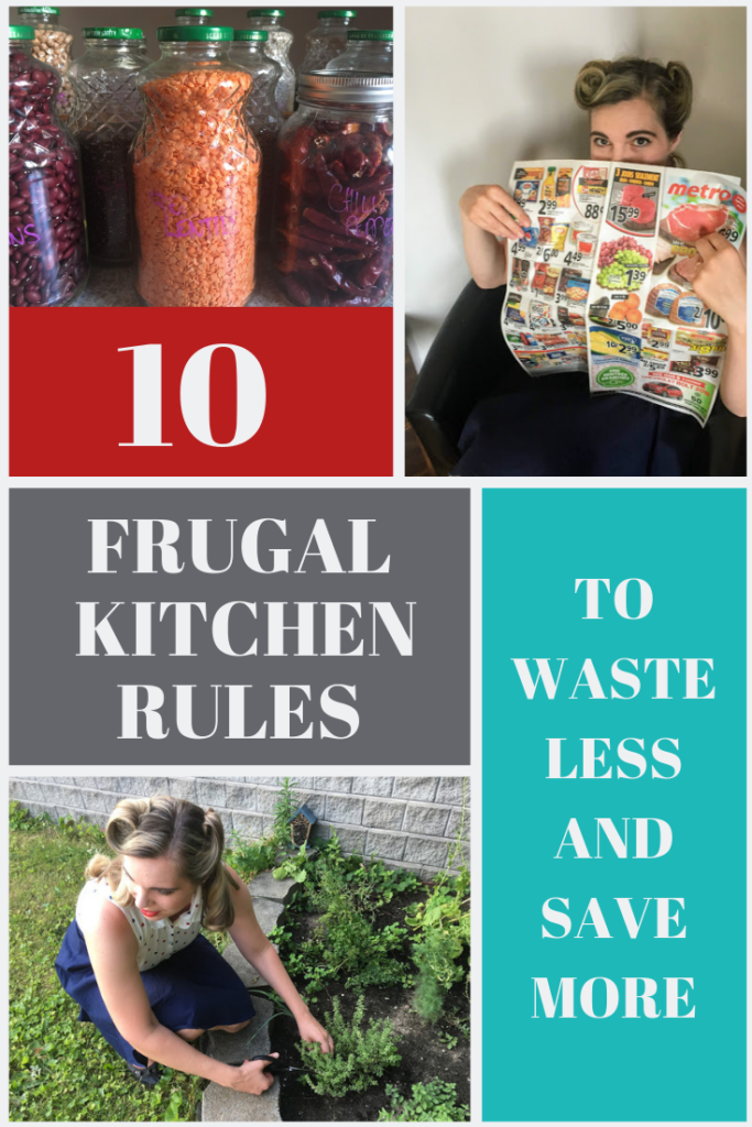 vintage frugal kitchen rules to waste less and save more