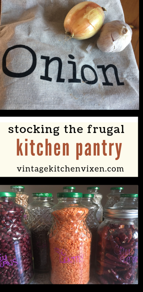 the frugal kitchen pantry pin