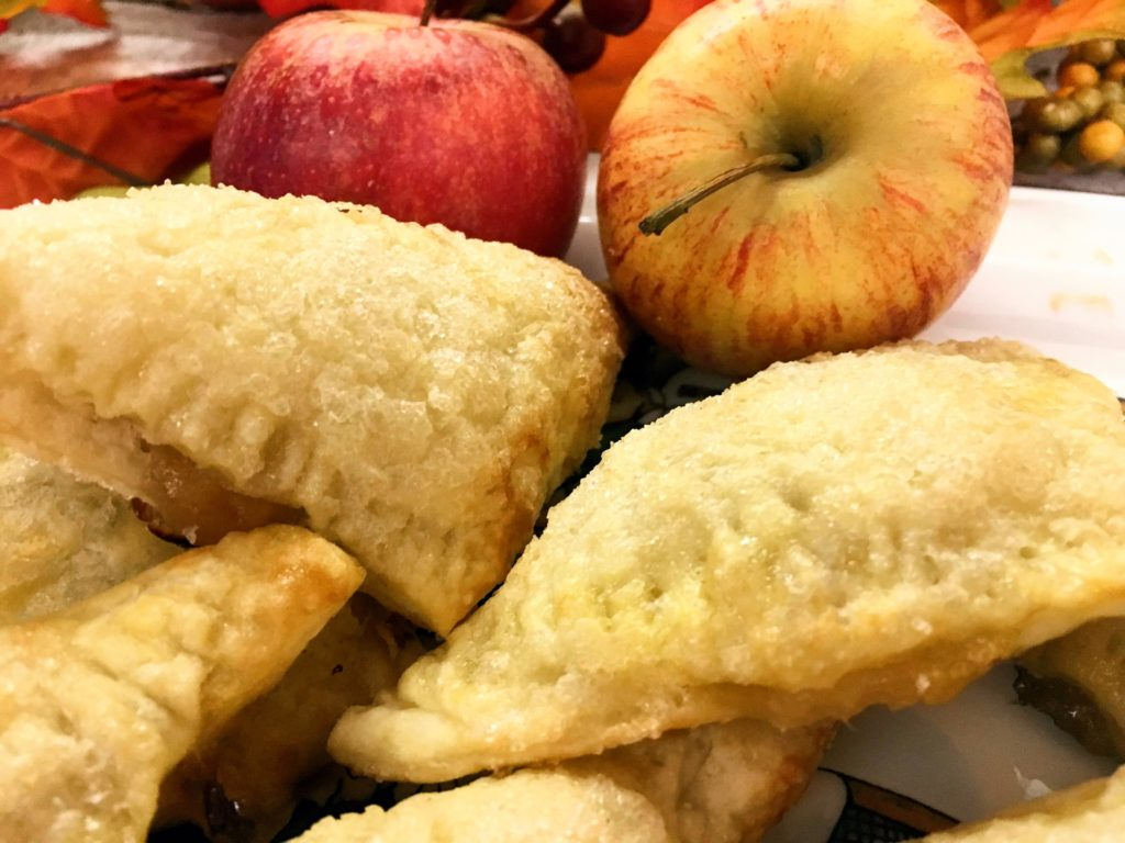 plateful of early fall apple turnovers