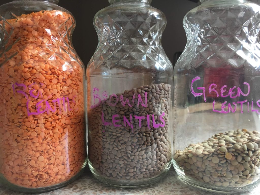 lentils for the frugal kitchen pantry