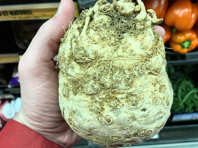 celery root at the store