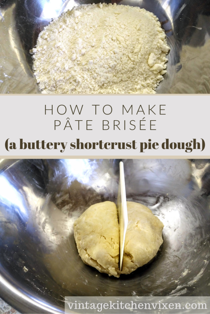 how to make pate brisee buttery shortcrust pastry dough