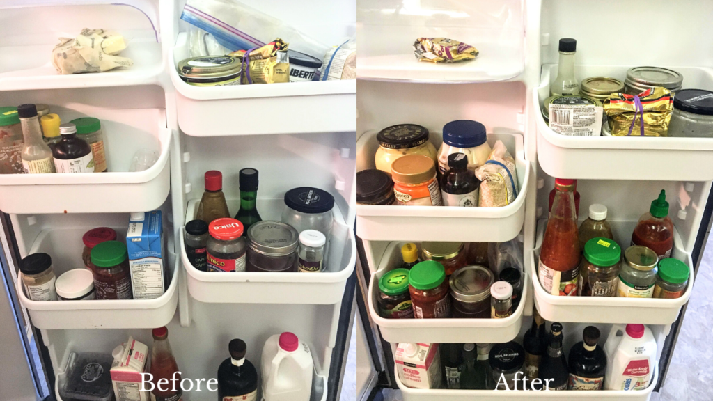 fridge cleaning before and after