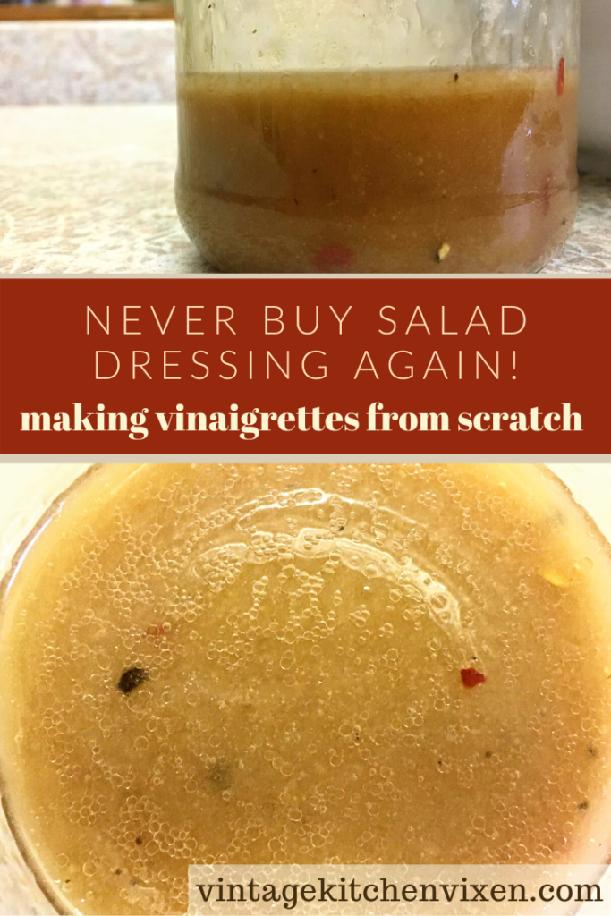 learn how to make homemade salad dressing pin
