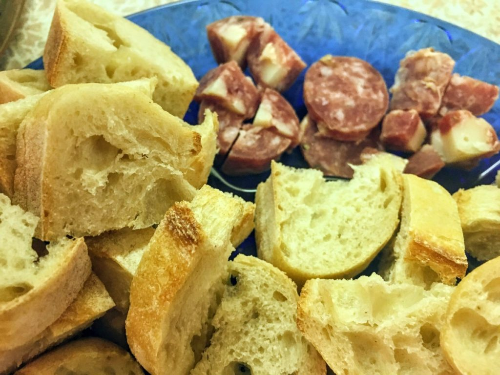 Baguette and cured meats