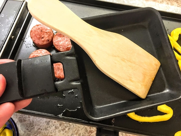 raclette tray and grill