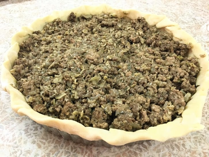filled tourtiere