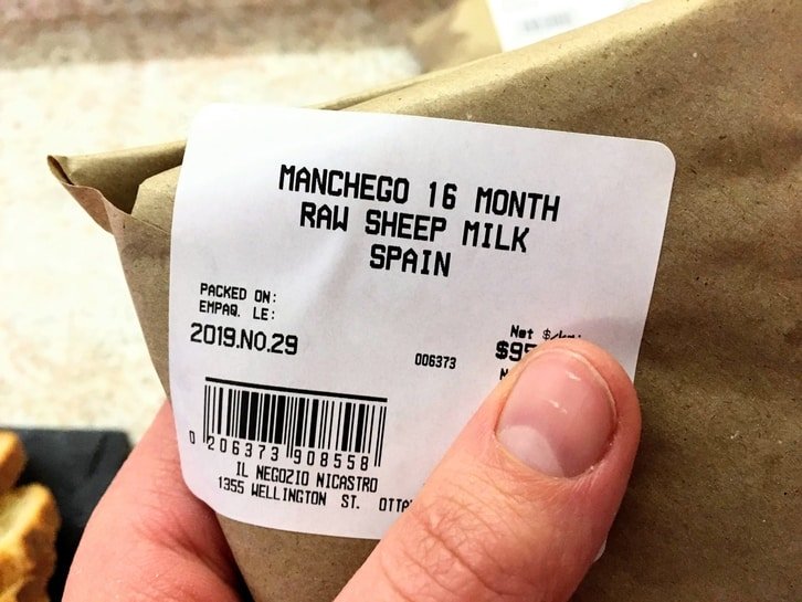 packaged manchego