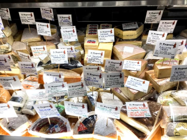 visiting the cheese monger