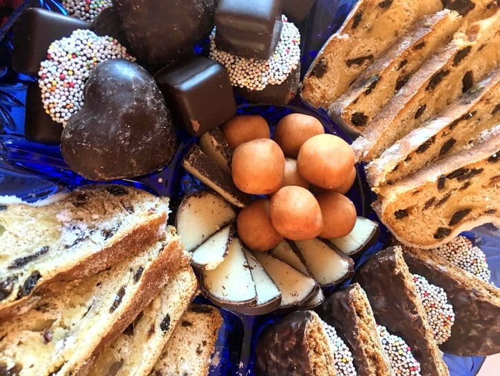 a plate of the best german christmas treats