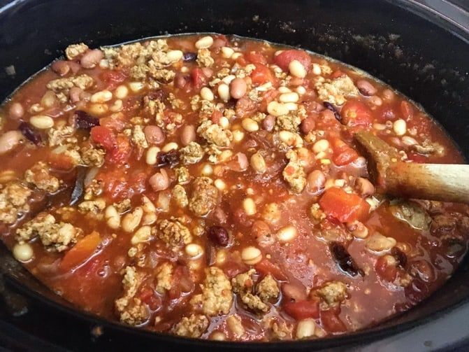 chipotle chili in a slow cooker