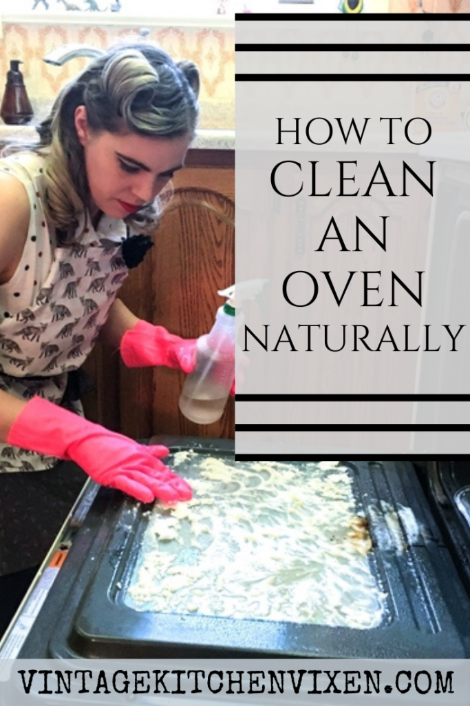 how to clean an oven naturally pin