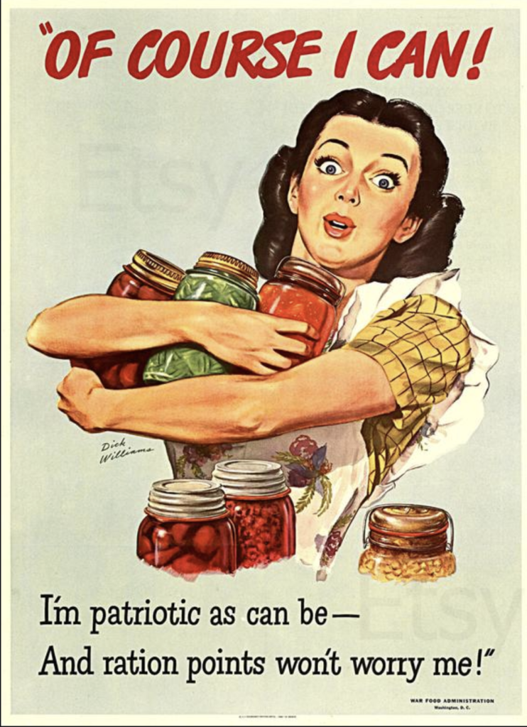 patriotic canning poster