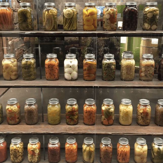 jars of canned preserves
