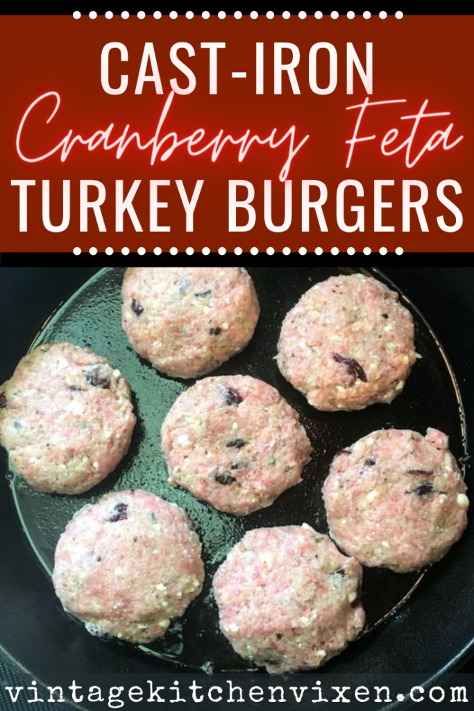 cast-iron skillet turkey burgers pinterest image