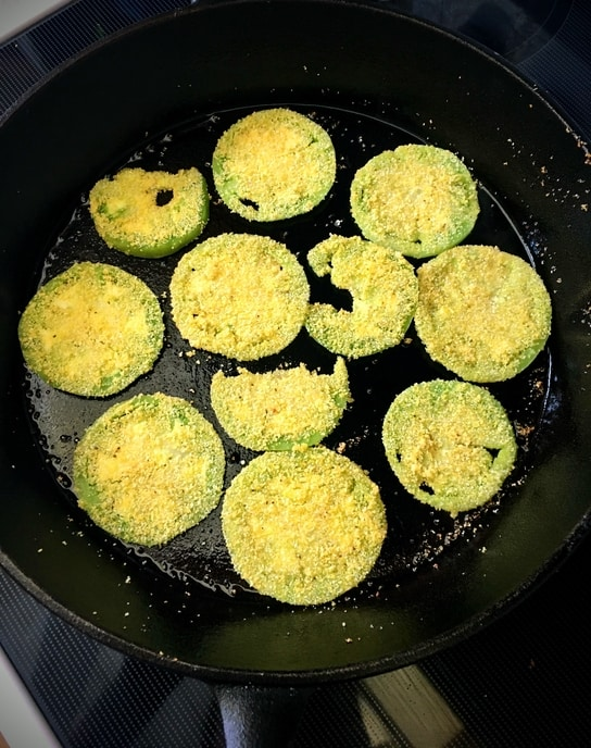 cast-iron skillet fried green tomatoes