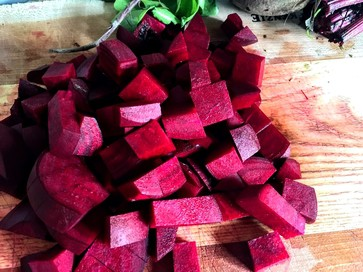 roughly chopped beets