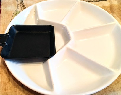 raclette plate and tray