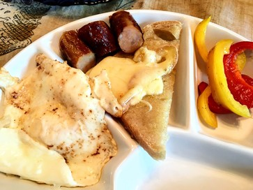 plate of raclette